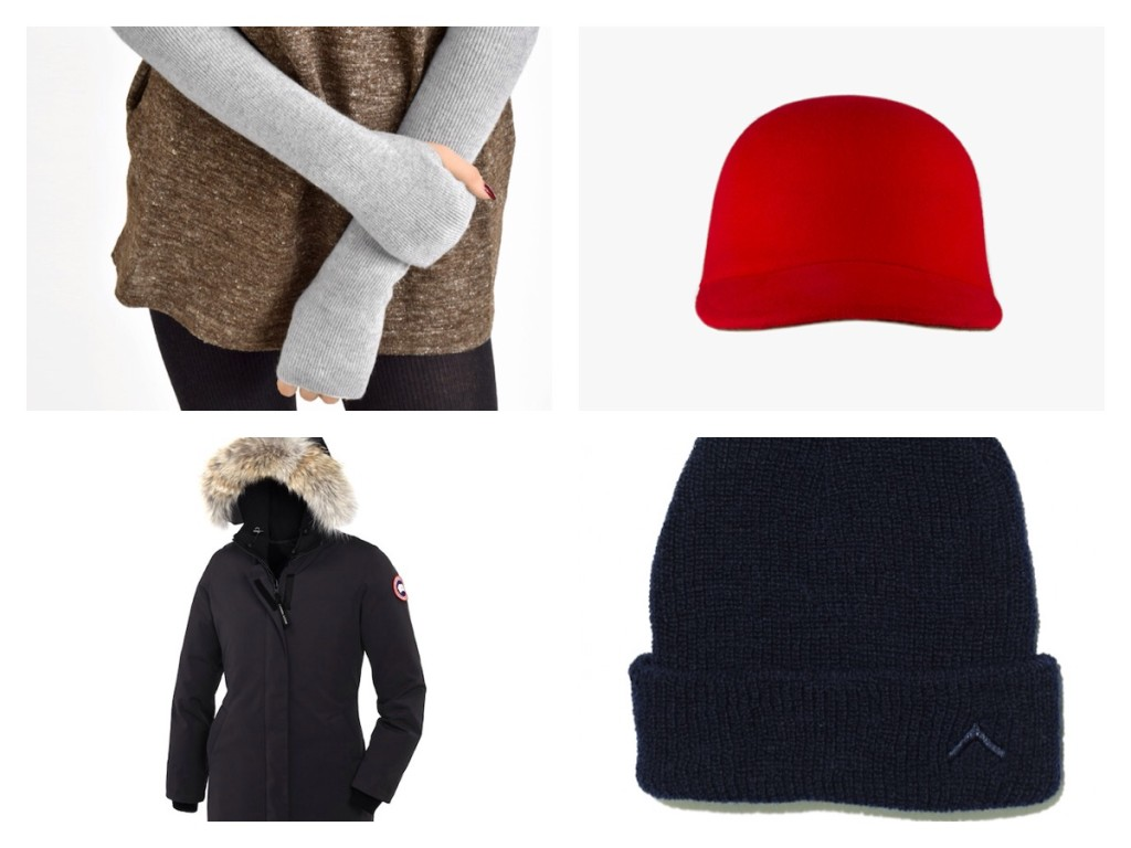 Coats, hats, even arm warmers that will keep you cozy this winter.