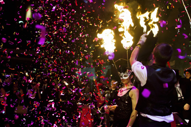 Gemini & Scorpio's costumed New Year's Eve fete brings the perfect amount of ceremony to the end of your 2014  . Photo:  Linus Gelber