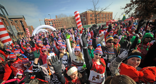 Dig up your tackiest sweater for the Ugly Sweater Run on Saturday. Photo: Ugly Sweater Run