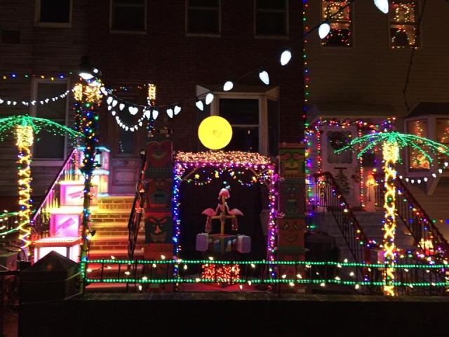 An alternative light show to the one in Dyker Heights: The Holiday Light Spectacular in Greenwood Heights. Photo:  Themeatricals