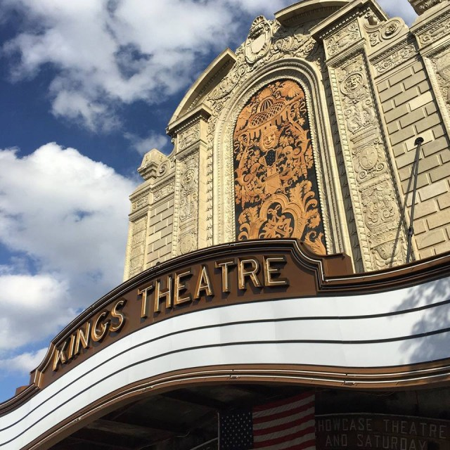 Facade of the Kings Theatre (photo courtesy of Kings Theatre's Facebook page: https://www.facebook.com/KingsTheatreBklyn/photos/pb.308936483947.-2207520000.1421524233./10152763915118948/?type=3&theater)