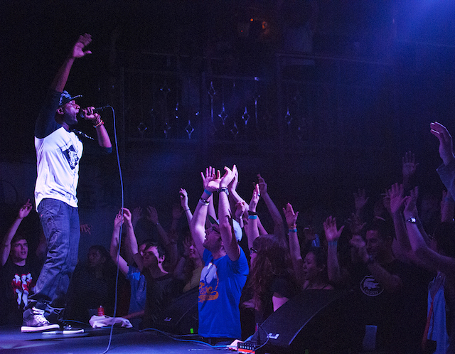Talib Kweli plays a show at Rough Trade NYC. Photo: Rough Trade