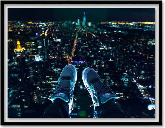 """""""Flight,"""" a precarious shot by Raheim Simon, aka @black_soap, who is part of Sugarlift's group show of street photographers opening Friday night."""