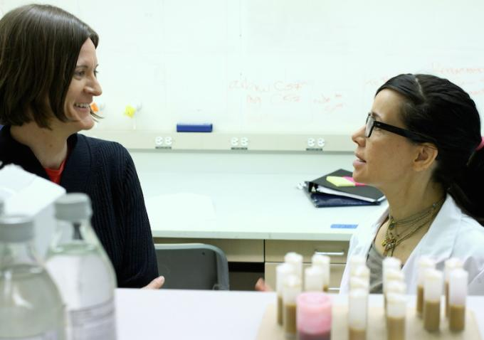 "Ingrid Jungermann and Janeane Garofalo in ""F to the 7th."" Photo: F to the 7th"