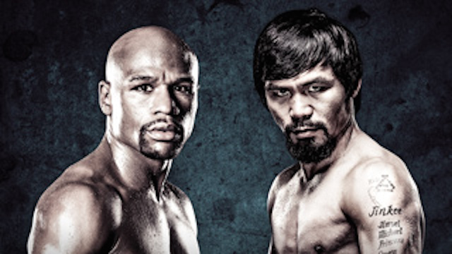 The highly anticipated fight between Pacquiao/Mayweather fight will be broadcast on pay-per-view tomorrow. Photo: Showtime