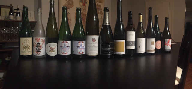 The assortment of natural and biodynamic wines and beers consumed before calling the Hangover Club. Photo: Talitha Whidbee
