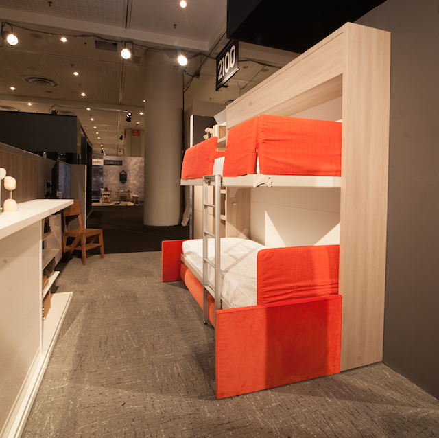 This Murphy bunk bed folds down into a couch or a desk, giving tons of options for a small room. Photo: Resource Furniture