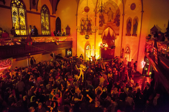 "A night at the former home of Rubulad, host of Brooklyn's longest-running underground art party. In Oriana Leckert's new book, ""Brooklyn Spaces: 50 Hubs of Culture and Creativity,"" she calls it ""the matron saint of Brooklyn's creative class."" Photo: Tod Seelie"