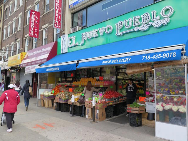 Along with stops at three taquerias during a Sunset Park taco crawl on Saturday, guide Lesley Tellez will lead the group to markets like El Nuevo Pueblo for a look at ingredients and to sip fresh drinks. Photo: El Nuevo Pueblo