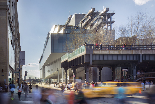 Don't worry! The new Whitney Museum is spacious enough to handle the High Line crowds. Photo: Photograph © Nic Lehoux