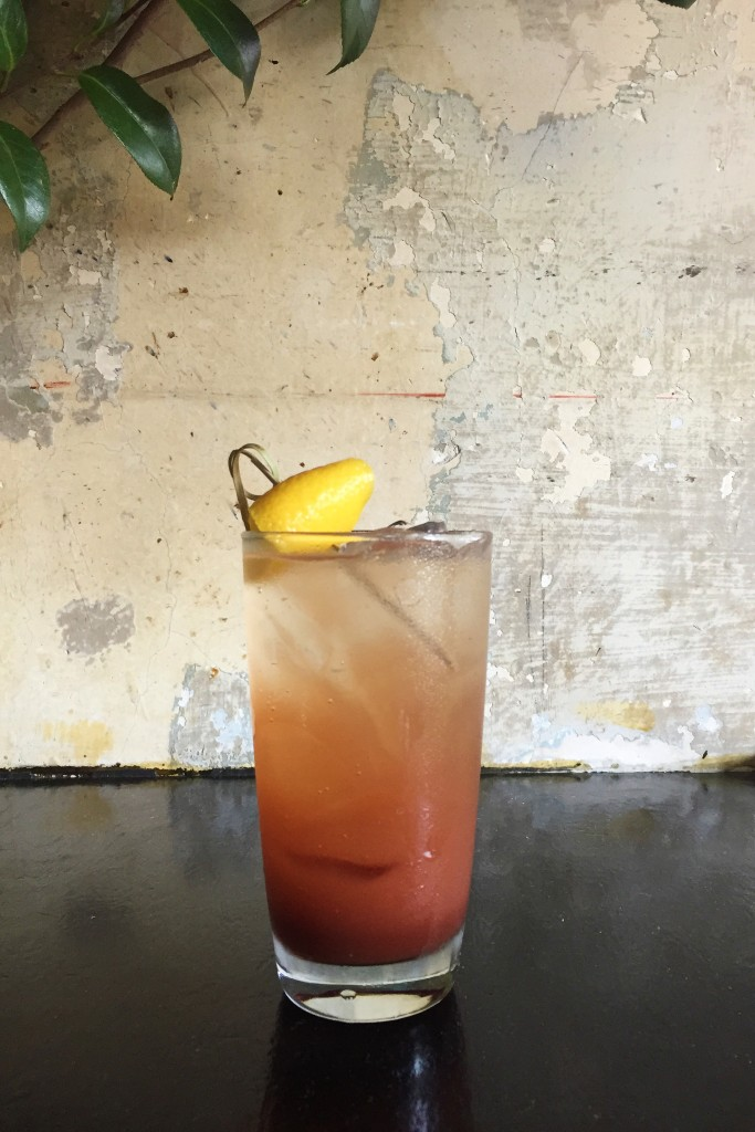 The Cherry and Balsamic Shrub at James in Prospect Heights can be served with or without alcohol. Photo: James