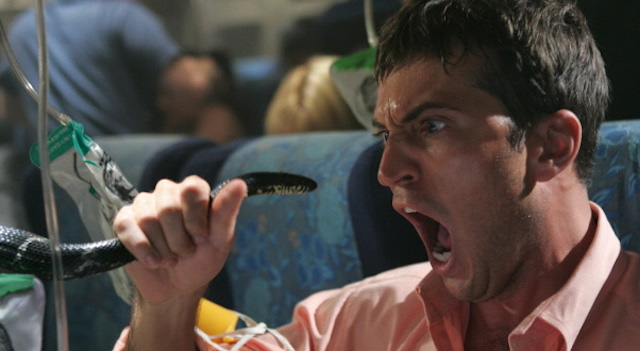 Beat the heat with a movie that doesn't require you to follow a plotline at Nitehawk's midnight Snakes on a Plane screenings this weekend. Photo: New Line Cinema
