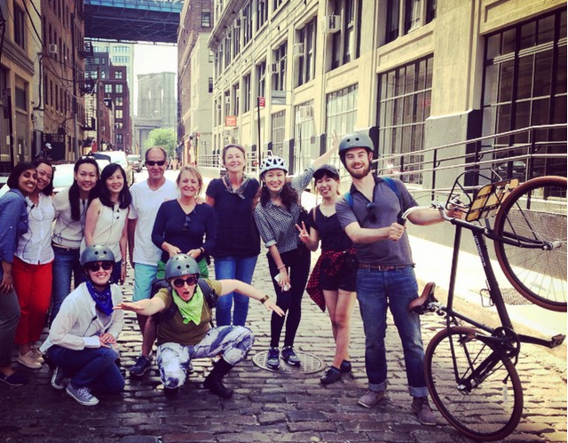 A group on the Brooklyn Classic tour with Get Up and Ride. Photo: Get Up and Ride