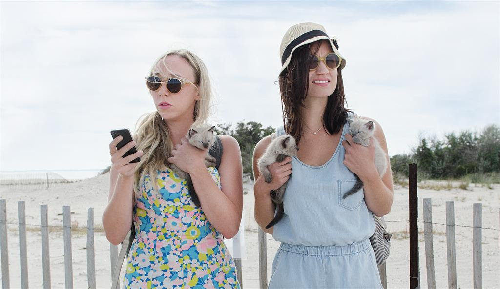 Clare McNulty and Bridey Elliot take millennial angst to all-time lows in 'Fort Tilden.' Photo:  Brian Lannin