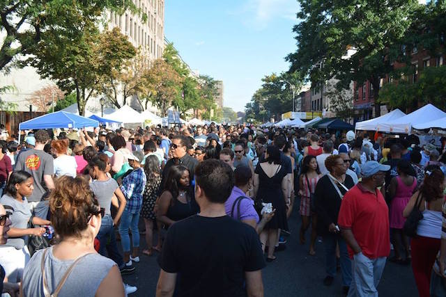 Join the masses at Atlantic Avenue's enormous, crazy street fair when it returns for its 27th year on Sunday. Photo: Atlantic Antic