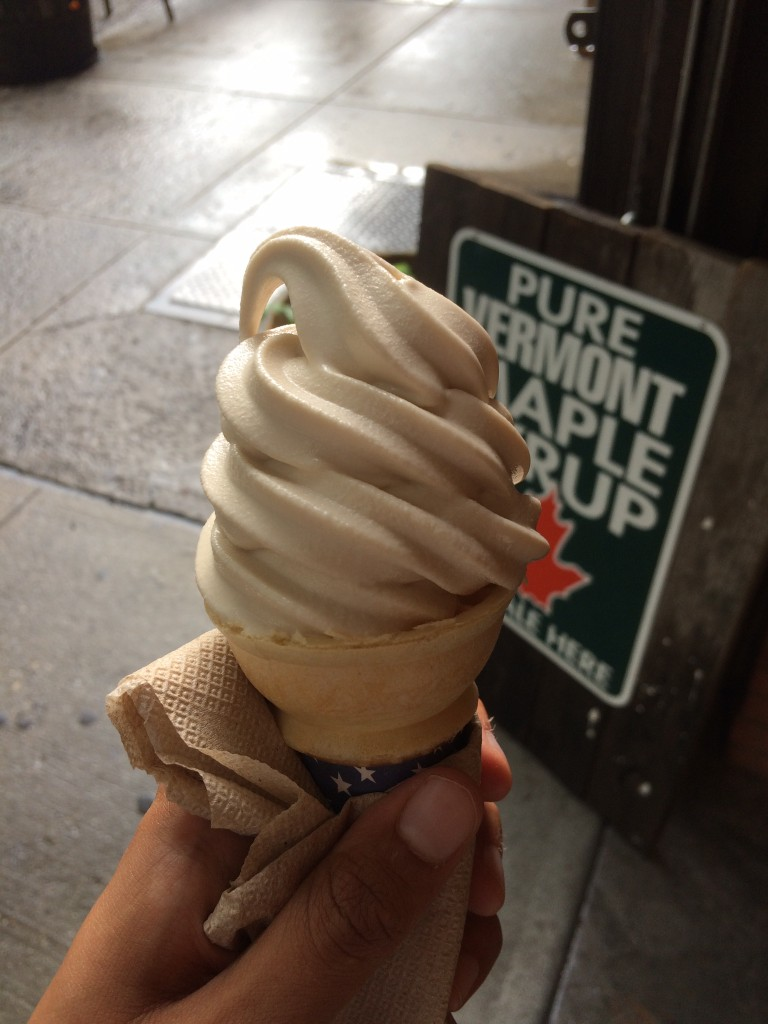The maple creemee at Corner of Vermont has a higher milk fat content than your standard soft serve. Photo: Elaheh Nozari