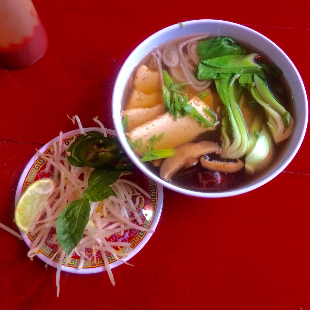 Vegetarian pho that is as rich and delicious as the beef variety, thanks to loads of aromatics. Photo: Elaheh Nozari