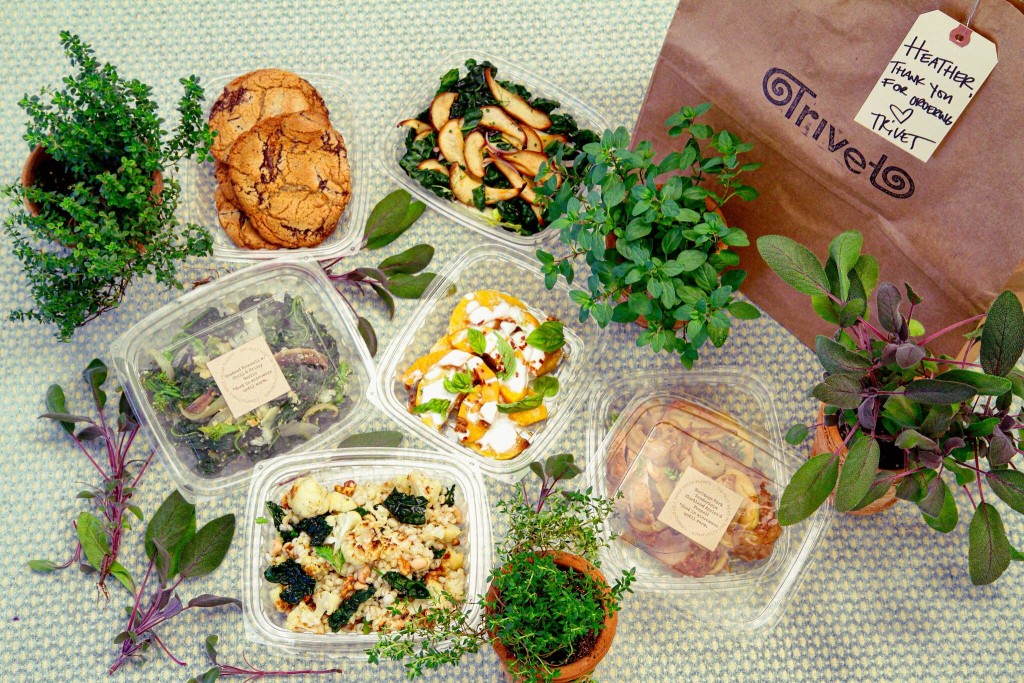 Trivet dinners arrive in compostable packaging, so you can feel less guilty about the leftover containers from your dinners. Photo: Trivet Foods