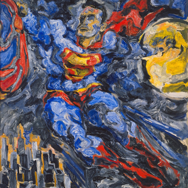 It's a bird, it's a plane, it's Superman! Philip Pearlstein Superman, 1952. Oil on canvas.The Museum of Modern Art, New York. Image © SCALA / Art Resource and Betty Cuningham Gallery