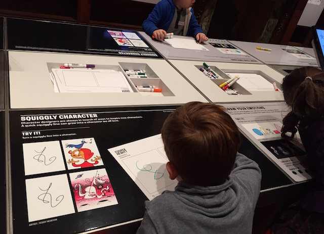 """Although the family programming """"Design Tales"""" is only for preschoolers, the exhibit is interactive for all kids. Photo: Meredith Craig de Pietro"""