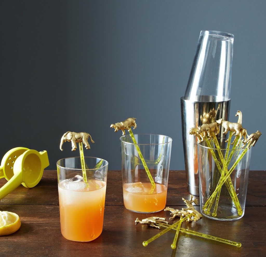 Repay your host for all the delicious drinks with some hilarious stirrers. Photo: James Ransom