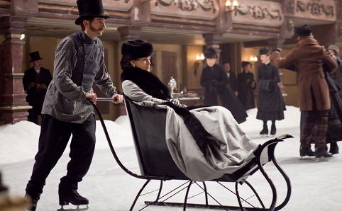 Will you need a sled to get around this weekend? Best to plan on staying on the couch. Photo: Focus Features