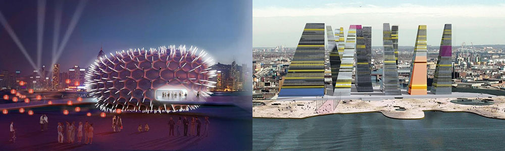 Art Pavilion, Hong Kong and Queens Olympic Village, by Leeser Architecture