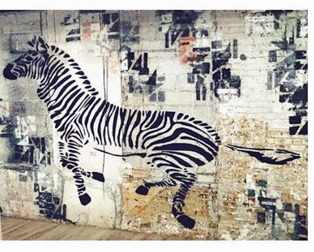 Zebra mural by WhIsBe