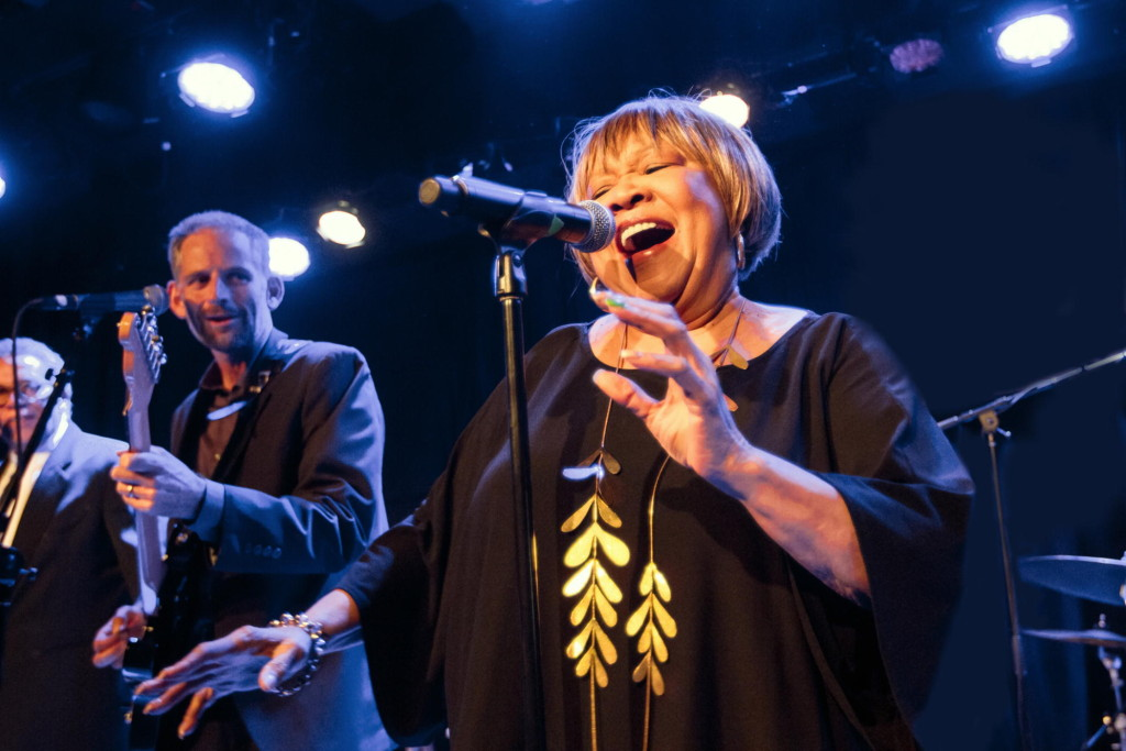 Mavis Staples performing in 2015 (Photo Credit: Miikka Skaffari/Film First/Courtesy of HBO)