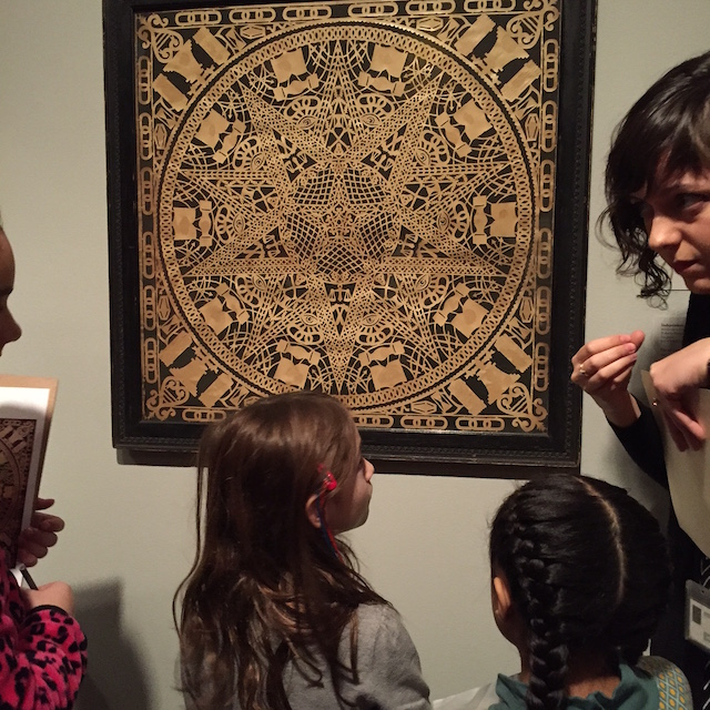 The programming helps kids get up close and personal with the art.