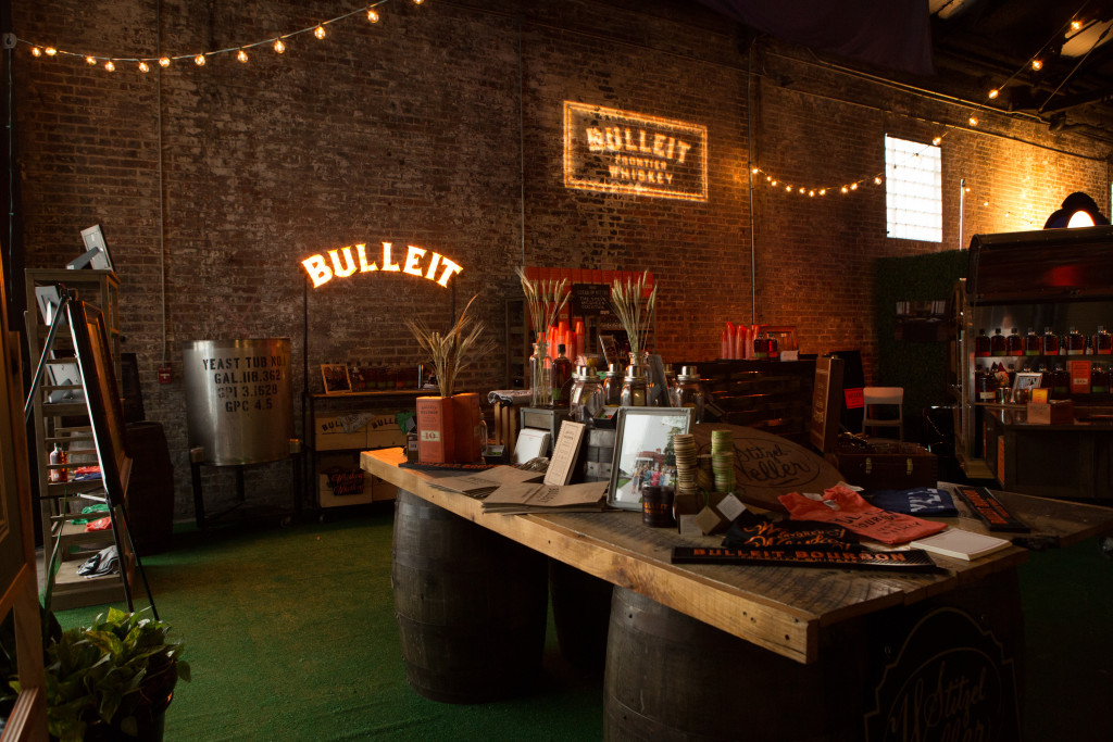 Belly up to the Bulleit bourbon bar on Sunday at Wedding Crashers, and take the edge off wedding planning. Photo: Bulleit Frontier Whiskey