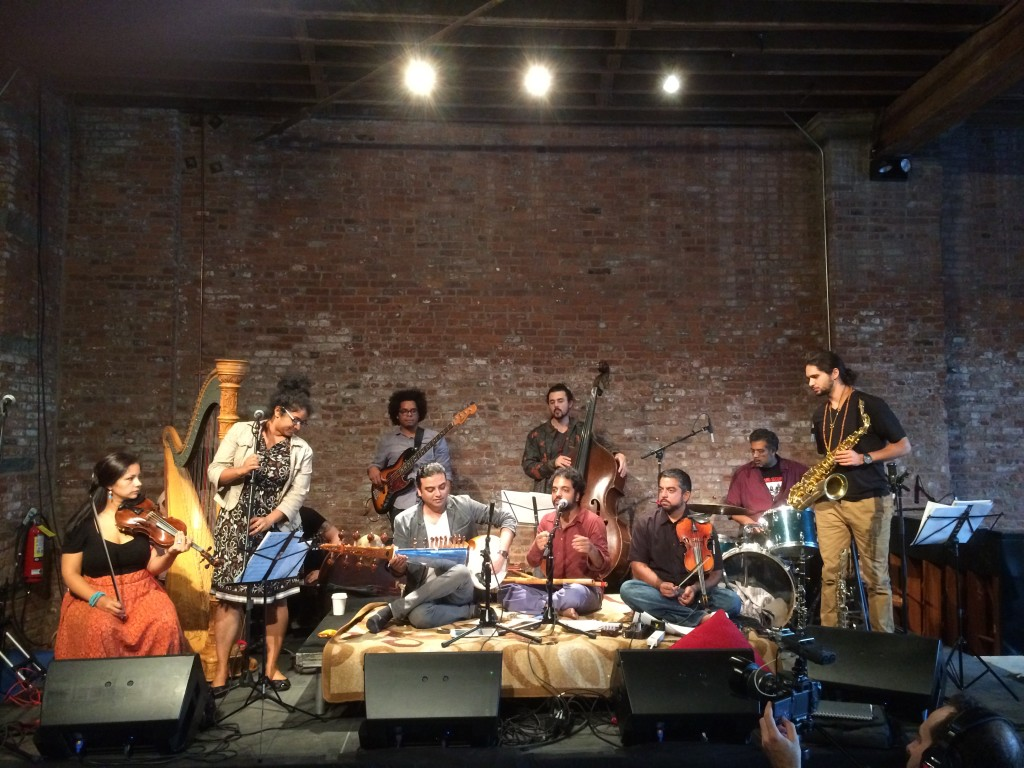 Brooklyn Raga Massive performs every Wednesday night at Pioneer Works through April.Photo: Andrew Mendelson