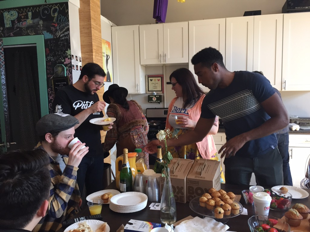Civic engagement, it turns out, is best fueled by brunch. Or pizza. Photo: Erin Neff