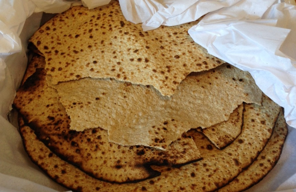 Shmurah matzoh from Lubavitch Bakery in Crown Heights is a surprisingly great, if slightly shatter-prone, cracker if you add a little salt. Photo: Annaliese Griffin