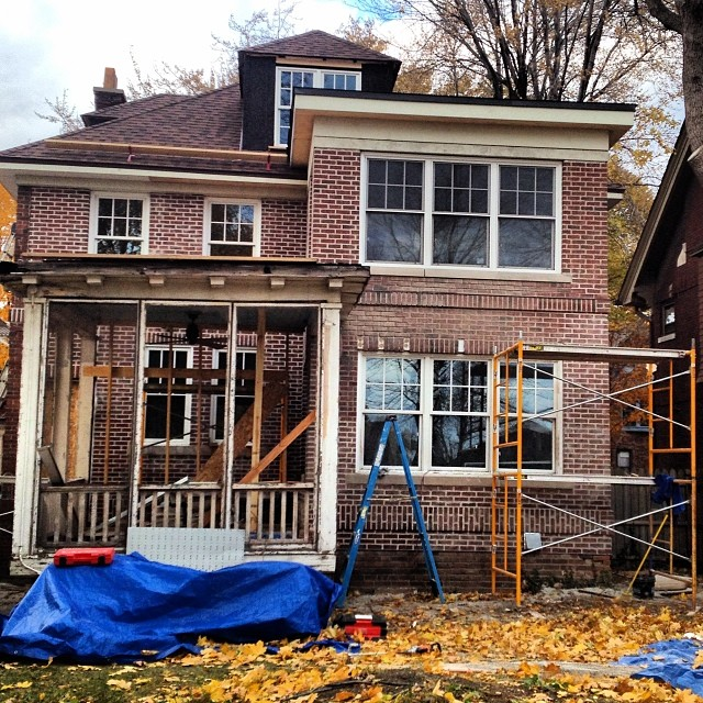 Amy Haimerl's Detroit home, mid-rehab. Photo: Amy Haimerl