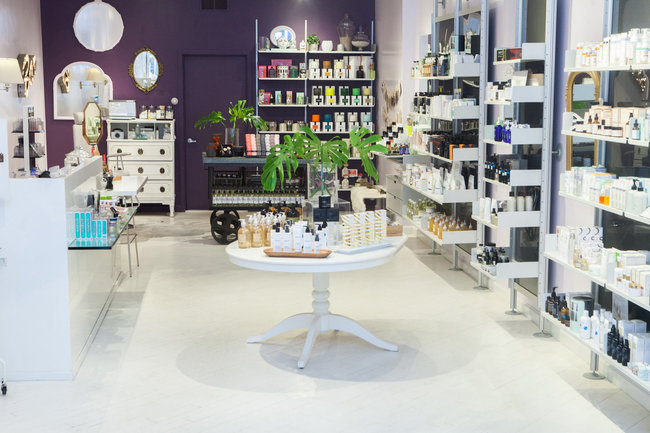 Shen Beauty, one of the city's best beauty shops for hard-to-find, natural skincare and makeup, also has a brow bar in back, where they're offering a free brow tinting or shaping. Photo: Shen
