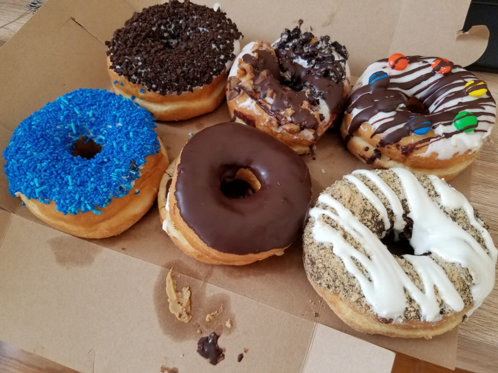 I, uh, ate two of the eight-donut sampler before I could grab my phone. Photo: Kenneth Rosen