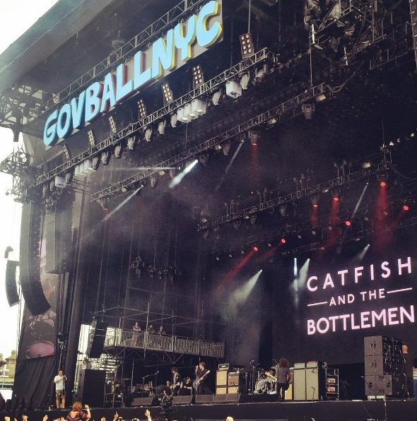 Communion Music band Catfish and the Bottlemen played Governor's Ball this spring. Photo: @communionmusic
