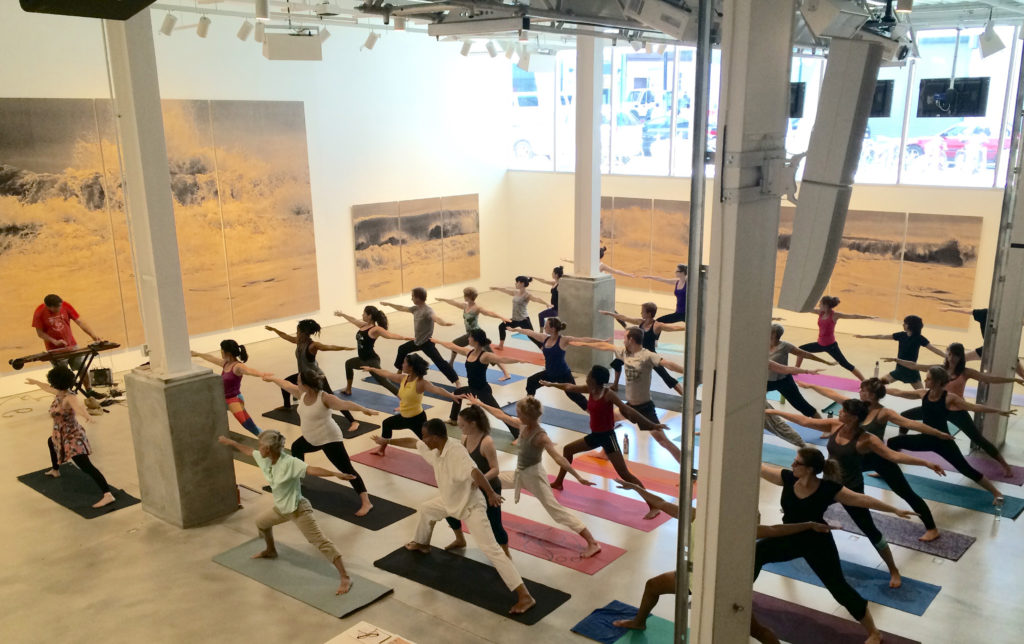 Start your weekend off on a mellow foot with yoga and live music at BRIC on Fridays, 1-2pm. Photo: Abigail B. Clark