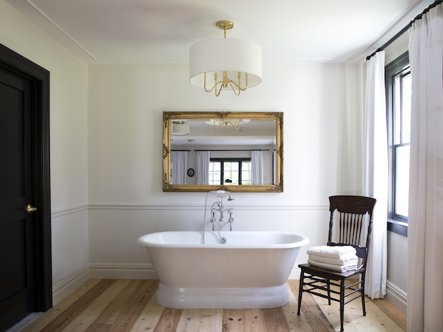 Two of the suites have soaking tubs. Photo: Emma Tuccillo