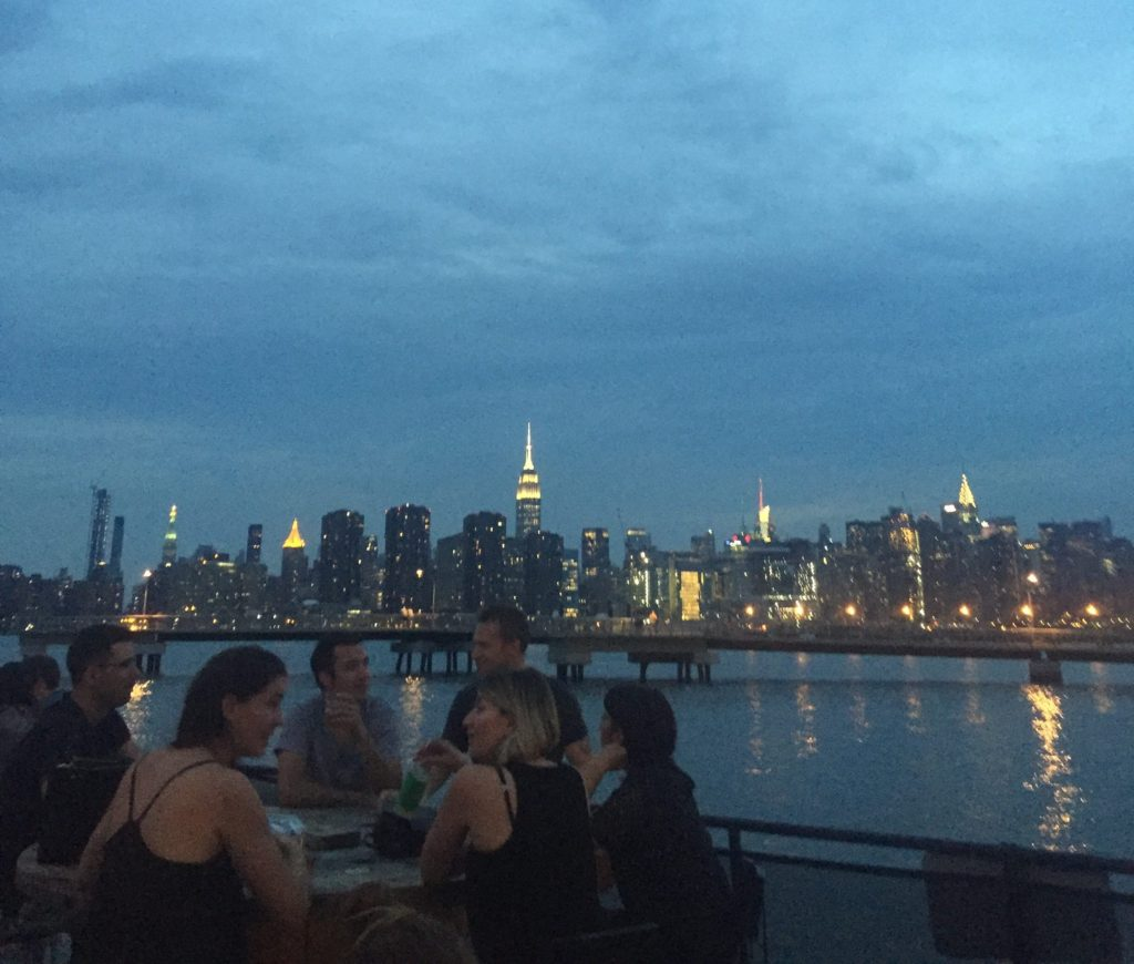 You really cannot beat the view at Brooklyn Barge in Greenpoint. Photo: Ellen Killoran