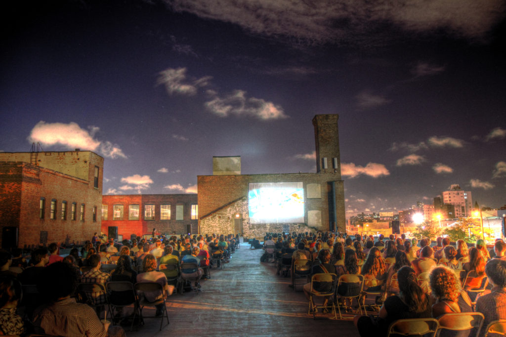 The Old American Can Factory in Gowanus is a screening location and home base for Rooftop Films. Photo: Irwin Seow