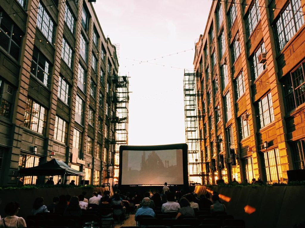 "See the Rooftop Films screening of ""Author: The JT LeRoy Story"" in the courtyard of Industry City Thursday night. Photo: Regina Mogilevskaya"