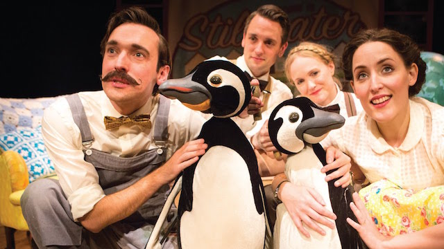Mr. Poppers Penguins comes to life with puppets in this performance. Photo: New Victory Theater