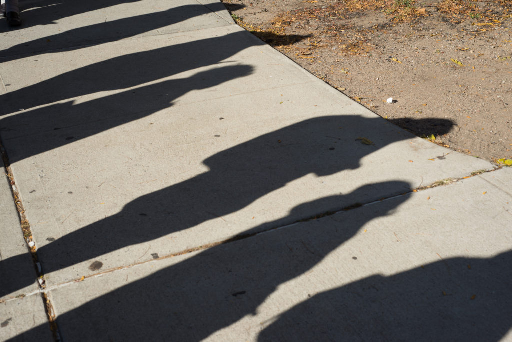Voters cast their shadows, votes, on Tuesday, Nov. 8. Photo: Spencer Starnes