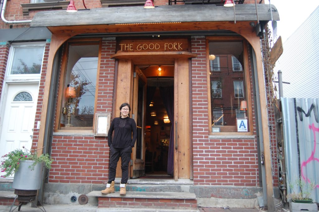 Sohui Kim stands in front of The Good Fork in Red Hook, celebrating 10 years in business. Photo: Georgia Kral