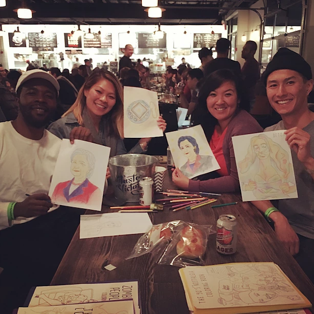 Photo: Cocktails and Coloring Club