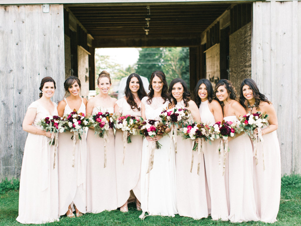 Bridal party styled by MG Hair and Makeup. Photo by Lauren Fair.