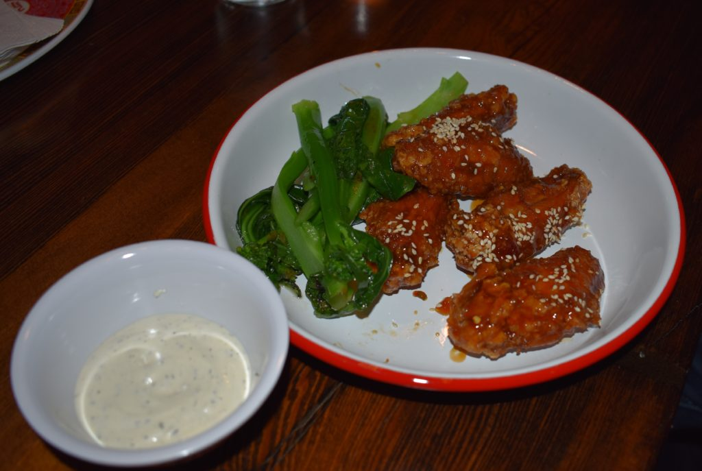 Atlantic Social's General Tso's wings may replace your buffalo wing habit. Photo: Georgia Kral