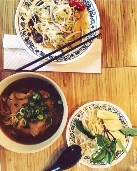 Add as much spice to your pho as it takes at BunKer. Photo: @tuckerschwarz via Instagram
